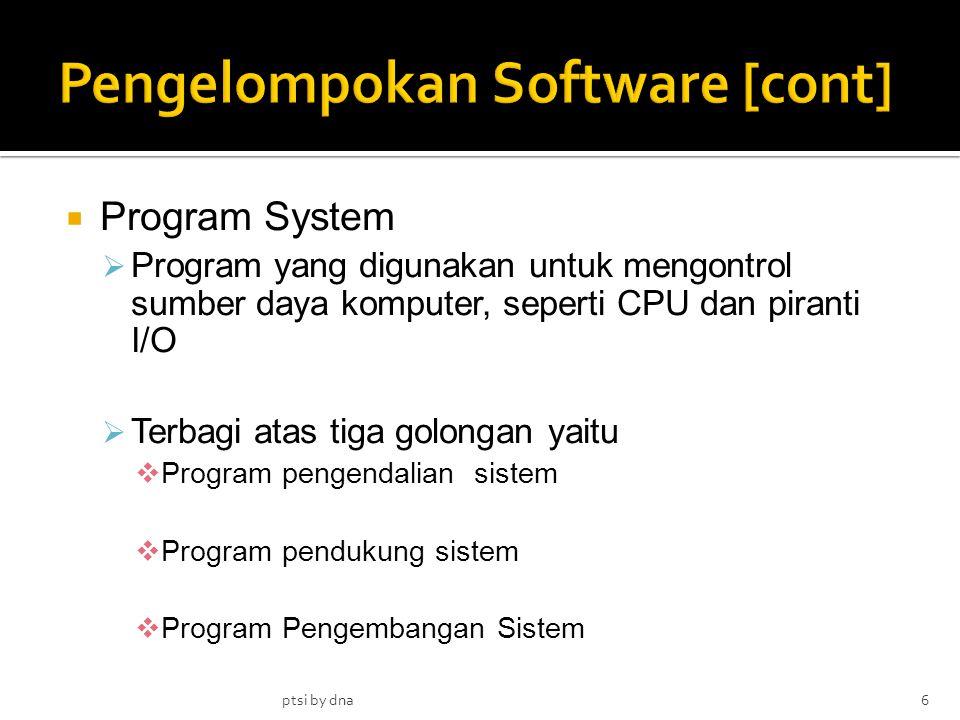 Pengelompokan Software [cont]